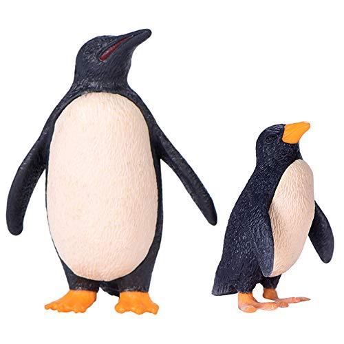 WFZ17 Mini-Pinguin-Modell, Miniatur-Landschaft, Ornament, DIY, Feengarten, Dekoration, Weiß, Schwarz, 2 Stück