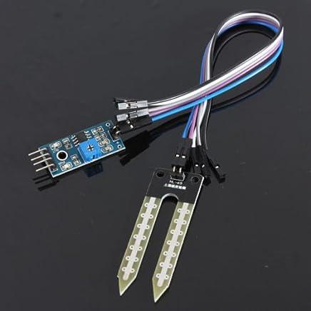SODIAL (R) Boden Hygrometer Luftfeuchtigkeit Detektionsmodul Feuchtig keitspruefung Sensor fuer Arduino PI