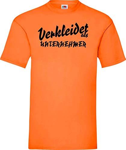 Shirtinstyle Camiseta carnaval VESTIDO como empresario LO MEJOR revestimiento Disfraz de carnaval - Naranja, XXL