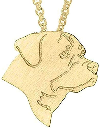 FACAIBA Necklace Collar Necklace Rottweiler Choker Necklace Rottweiler Pendant Charm Jewelry Long Necklaces Dog Charm for Women Party Gifts for Women Men Gift