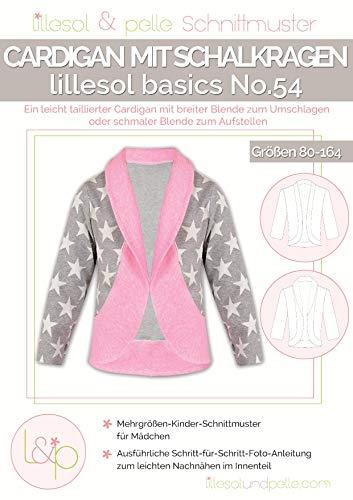 Lillesol & Pelle Schnittmuster basics No54 Cardigan mit Schalkragen Papierschnittmuster