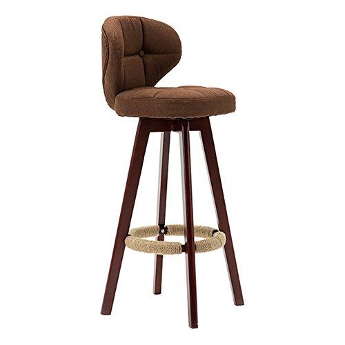 360 graden Swivel massief houten rugleuning stoel, klassieke eetkamerstoel woonkamer kantoor espresso/rustiek, klassiek, 108X34X40cm