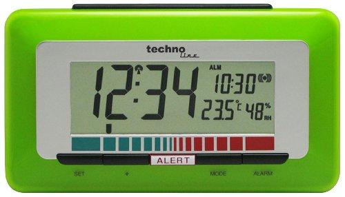 Technoline Luftgütemonitor WL 1000 mit Innentemperaturanzeige und Luftgütesensor zur Überwachung der Raumluftqualität , Grün, 15,0 x 4,8 x 8,5 cm