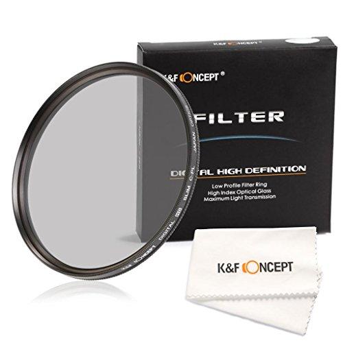 K&F Concept 62mm CPL Filtro Filtro Polarizador Circular Filtro con Multi Capa para Sony Alpha A57 A77 A65 18-250mm 18-135mm Lentes + Paño de Limpieza para la Lente