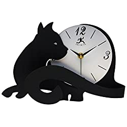 Infinity Instruments Cat Lovers Table Top Clock with Adjustable Tail