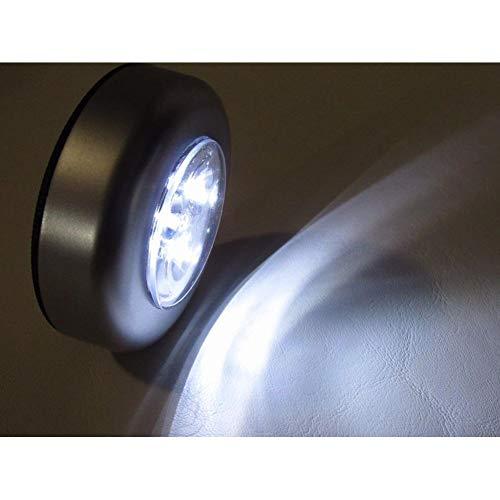 3Pc 3 Led Batterij Aangedreven Draadloos Nachtlampje Stok Tap Touch Push Beveiliging Kast Kast Keuken Wandlamp Kinderkamer Speelgoed
