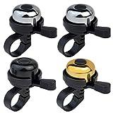 Topbuti 4 Pack Bike Bells Bicycle Bell Black Bike Ringer Bell, Aluminum Alloy