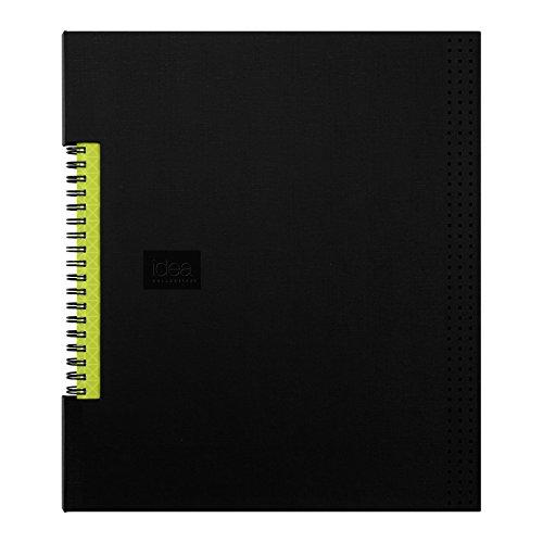Oxford Idea Collective Caderno de negócios, 28 x 21 cm, fio duplo, encadernado, preto, 80 folhas (56895)