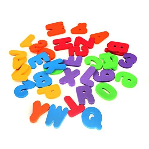 kengb 36STKS Sticker Zwevende Letters, Baby Bad Speelgoed Kinderen Educatieve Badkamer Alfabet Speelgoed Schuim Zwevende Badkuip Sticker Niet-giftige EVA Letters Nummers