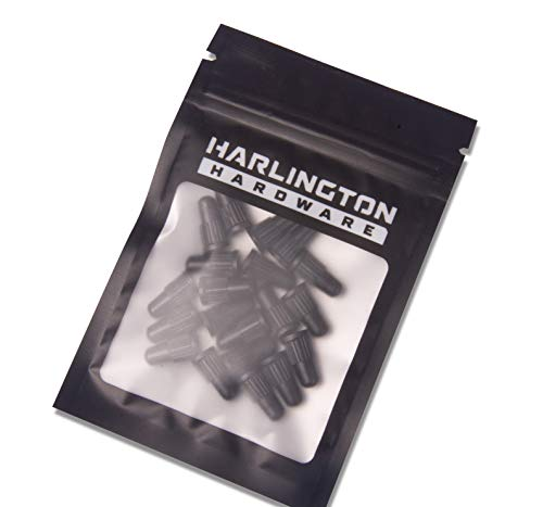 Harlington Group 20Pcs Presta Valve Dust Caps Black Plastic Bike Valve Cap Pack Of 20 Replacement Covers For Road Bikes, Mountain Bikes MTB and Bicycles
