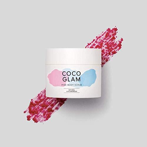 HelloBody Coco Glam Pink Body Scrub (200g) – Veganes Körperpeeling für trockene Haut – Natürliches Peeling für Körper und Gesicht – Scrub mit Kokos Duft