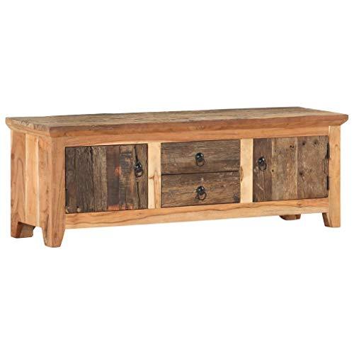 vidaXL Akazie TV Schrank Lowboard TV Möbel Tisch Board Sideboard Fernsehtisch Fernsehschrank HiFi-Schrank 120x30x40cm Recyceltes Massivholz