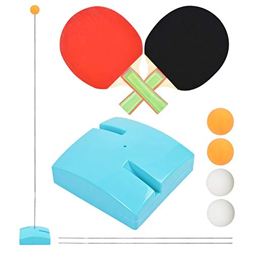 Great Price! Table Tennis Trainer Elastic Shaft,Portable Table Tennis Set Two Kinds Of Hight Adjusta...
