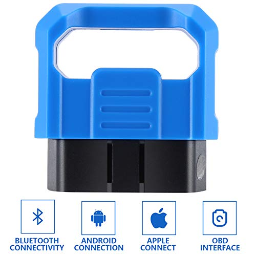 LESHP OBD2 Bluetooth Scanner, OBDII Scan Tool Car Code Reader, Bluetooth 5.0 Full System Adapter Car Diagnostic Scanner Check Engine Light for iPhone & Android