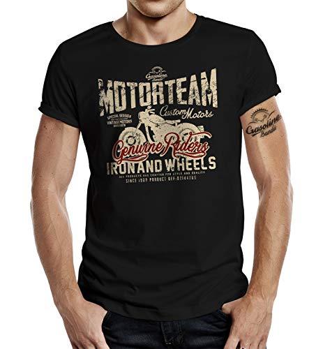 Camiseta de motorista Racer Rocker motorista Negro XXXL