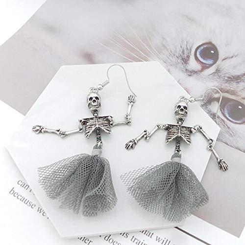 HND ZNXHNDSH Ursprünglichkeit Retro Exaggeration Skeleton Gazerock Metall baumeln Ohrringe, Mode-Accessoires Großhandel (Color : A Earring)