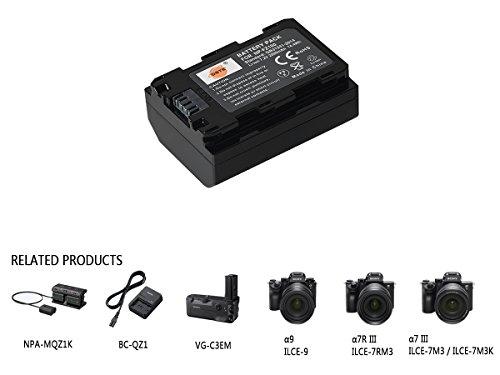 DSTE® 7.2V 2000mAh NP-FZ100 FZ100 Recargable Digital Batería Compatible con Sony A7R3 A7R III α7R III α7R3 Alpha 9 Alpha 9R Alpha a9R Alpha a9S Alpha 9S cámara as A7RM3