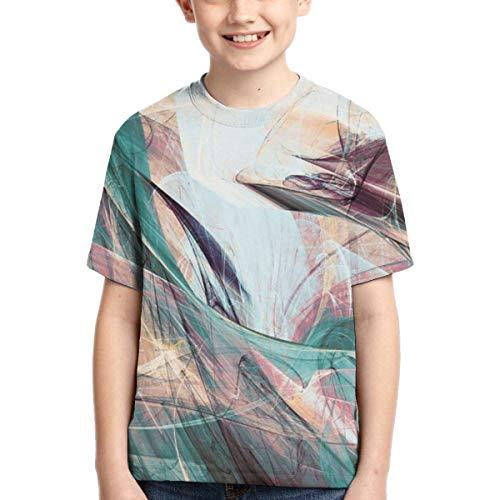 XCNGG Niños Tops Camisetas Youth Short Sleeve T-Shirts Artsy Abstrac Kids Casual Graphics Tees