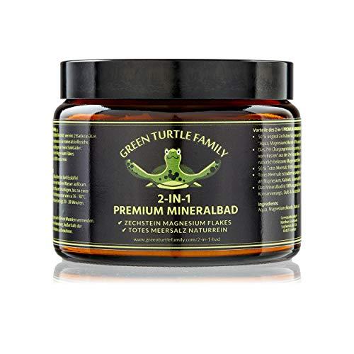 2-IN-1 PREMIUM MINERALBAD. Original ZECHSTEIN Magnesium Flakes & Totes Meersalz in 100% naturreiner Qualität.