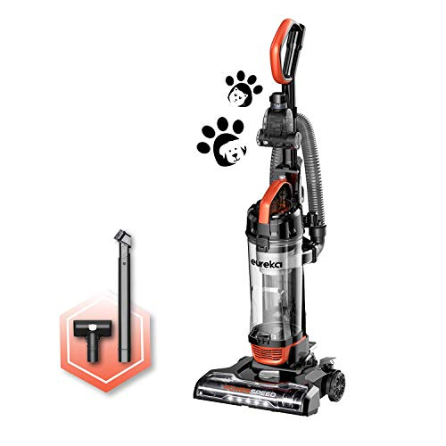 Eureka Power Speed Turbo Spotlight Bagless Upright Vacuum Cleaner, Pet Tool, Orange, NEU188A
