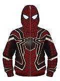 NooobTerrm Sudadera con capucha para chicos y chicas, con cremallera completa Spiderman B 11-12 años (L)