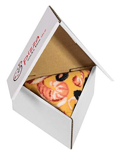 Pizza Socks Box Slice Frutti di Mare - Donna Uomo - 1 paio di Calze - Taglia 41-46