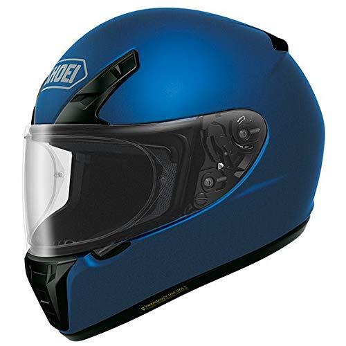 Shoei Ryd Full Face Motobike Motorcycle Helmet for Men and Women Matt Blue Metallic Large Helmet