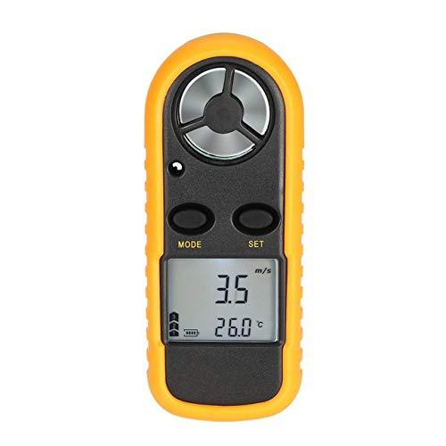 Ballylelly GM816 Digital Anemometer Thermometer Windgeschwindigkeit Luftgeschwindigkeit Luftstrom Temperaturanzeige Windmesser mit LCD-Hintergrundbeleuchtung