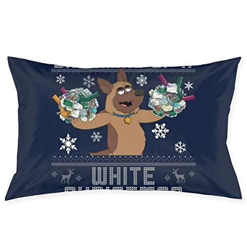 WH-CLA Funda De Almohada Dreaming of A White Christmas Bullet Paradise PD Funda De Cojín Sofá Silla con Cremallera Cama Habitación Regalo Rectángulo Personalizado Anime Throw Pillow Cove