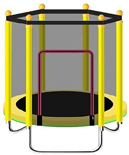 Indoor trampoline Mini Fitness Trampoline For Children/Toddler Rebounder Trampoline With Fence|Max Load 250kg For Indoor Garden Workout Cardio Exercise (Color : Yellow)