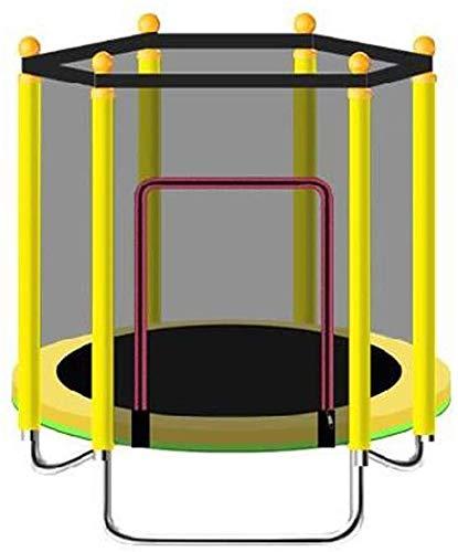 Cama elástica Mini Fitness trampolín for los niños/niño Rebounder el trampolín con la Valla | Carga máxima de 250 kg for de Interior del Entrenamiento Jardín Ejercicio Cardio (Color : Yellow)