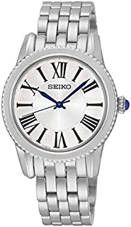 Seiko Women's Analogue Quartz Watch With Stainless Steel Strap Srz437P1, Silver Band