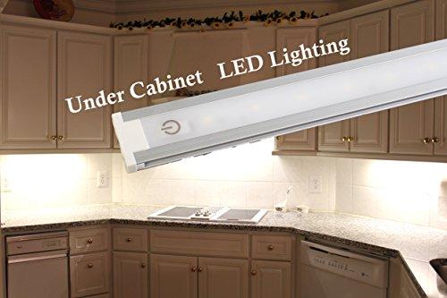 ledupdates 24pulgadas bajo luz LED para tienda de trabajo y armario con UL adaptador de alimentación