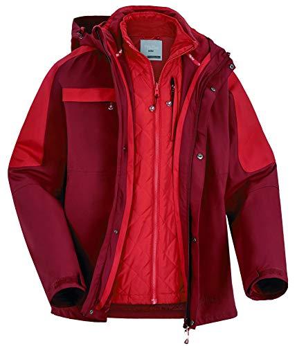 Fifty Five Skijacke Winterjacke Herren - Kingston Bay - Männer 3 in 1 Jacke Doppeljacke Schwarz XL XXL 54 56 Winddicht Wasserdicht Atmungsaktiv
