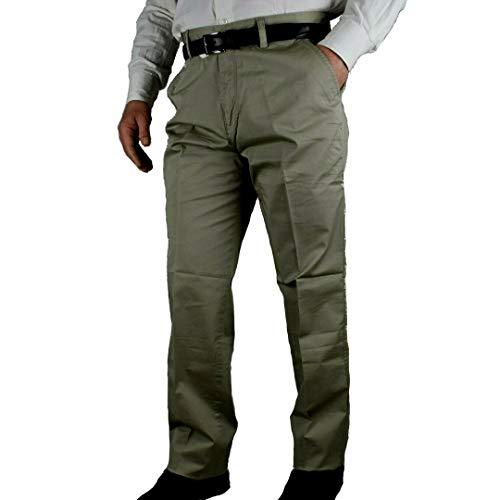 Pantalone Uomo Invernale Imbottito in Pile Elegante Classico Caldo Foderato 46-60 a Tasca America Vita Alta Nero (58, Noce)