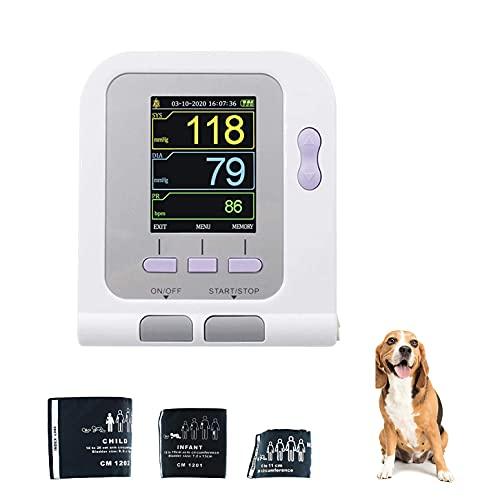 LLLZM Brazalete de esfigmomanómetro, Tensiómetro de Brazo, Golpe de corazón Irregular Detector,para Gatos, Perros, animalesMonitor de presión Arterial