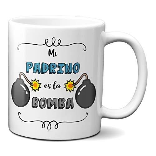 Planetacase Taza para Padrino - Mi Padrino es la Bomba - Regalo Original Familia Ceramica 330 mL