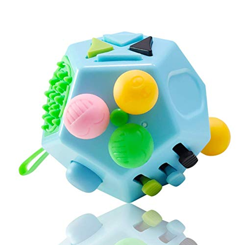 AimdonR 12-seitiger Zappelwürfel, 12-seitiger Zappelwürfel Spielzeug gegen Stress und Angst Depressionen Anti-Würfel für Kinder und Erwachsene
