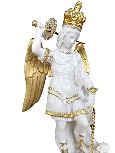 Centro Ardolino Estatua San Miguel Arcángel de mármol Resina cm. 16