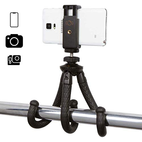 iOgrapher Compact Flexible Mini Tripod, with Action Camera Mount, Phone Mount, 1/4...