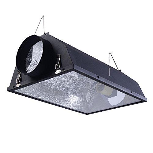 "Giantex 6"" Air Cooled Hood Reflector Hydroponics Light Grow Hydroponic w/Glass Cover"