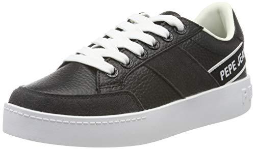 Pepe Jeans London Brixton Tape, Zapatillas para Mujer, (Black 999), 40 EU