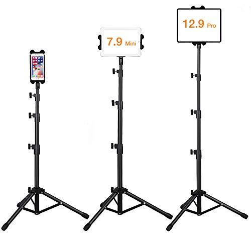 Ipad Floor Stand, Raking Height Adjustable 30 to 60 Inch Tablet Tripod...
