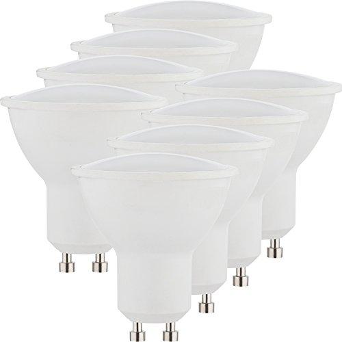 Müller-Licht 400231 A+, 8er-SET LED Reflektorlampe Essentials ersetzt 50 W, Plastik, GU10, weiß, 5 x 5 x 5.5 cm