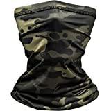 Johan & John Breathable Face Mask Neck Gaiter – Camo Gaiter Mask for Men & Women w/a Secure, Comfortable Fit for Sports & Everyday Wear – Face Mask Washable 100% Polyester