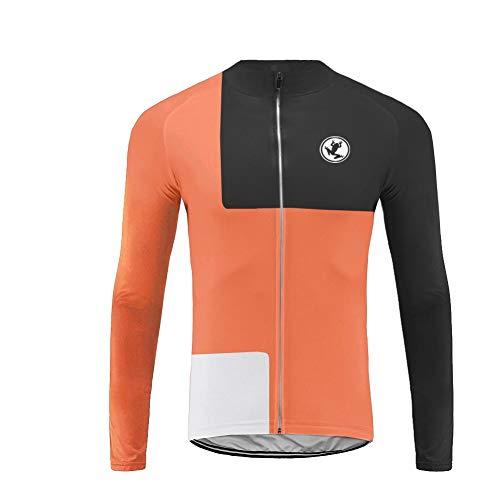 Uglyfrog Fahrradtrikot Lange Ärmel Team/Radtrikot/Jersey/Fleece/Warm/Reflektoren/Rückentaschen