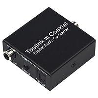 TOOGOO 光ファイバ同軸コンバータデジタル光ファイバ-同軸オーディオ付き 1080P HD テレビ、プロジェクター、ゲーム機用