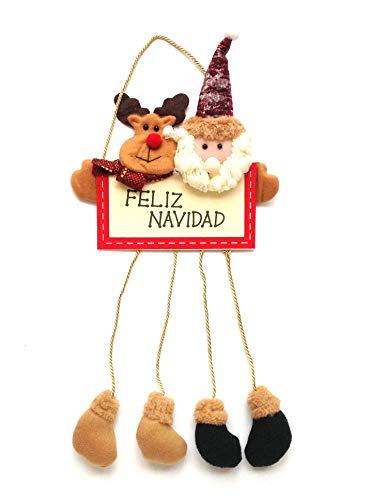Colgante de Navidad para Puerta Decoración Papá Noel (HC Enterprise-h9196)