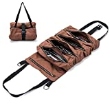 Super Tool Roll, Large Wrench Roll, Big Tool Roll Up Bag, Waxed Canvas Tool Organizer Bucket, Tool Roll Up Pouch, Handy Small Tools Tote Carrier,Tool Pouch Sling, Car Back Seat Organizer,Gifts For Men
