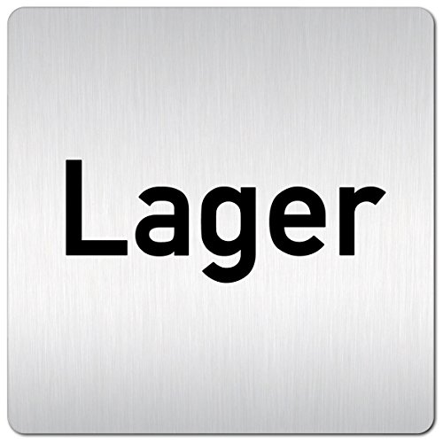 Kinekt3d Leitsysteme XXL Schild - Türschild • 125 x 125 mm • Lager • 1,5 mm Aluminium Vollmaterial • 100% Made in Germany